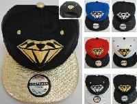 Snap-Back Flat Bill Hat [Diamond]